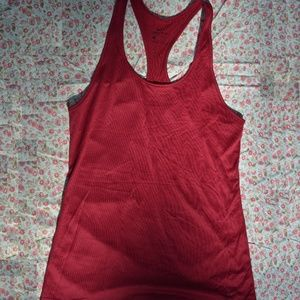 Nike Tank Top Racer-back Red Burgundy Active Small
